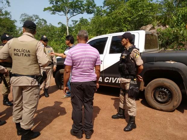 SSP diz que policiais civis e militares fazem buscas na tentativa de encontrar desaparecidos (Foto: Divulgação/SSP TO)
