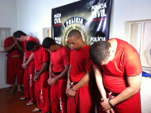 Outros presos também foram apresentados pela Polícia Civil (Foto: Fernanda Resende/G1)