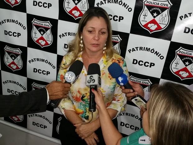 Delegada Rosilei de Lima, diretora da Delegacia de Patrimônio, que investiga o caso (Foto: Toni Francis/G1)