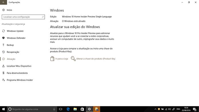 Microsoft adicionou ferramenta para correção de problemas de ativação no Windows 10 (Foto: Reprodução/Elson de Souza)