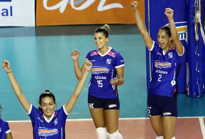 Minas vence na Superliga de vôlei (Foto: Divulgação/CBV)