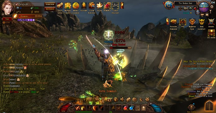 Apesar de possuir várias lutas, a opção Auto Combat pode transformar o jogador em um simples espectador (Foto: Reprodução/ Mechanist Games)