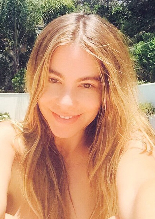 Sofia Vergara sem maquiagem (Foto: Reprodução)