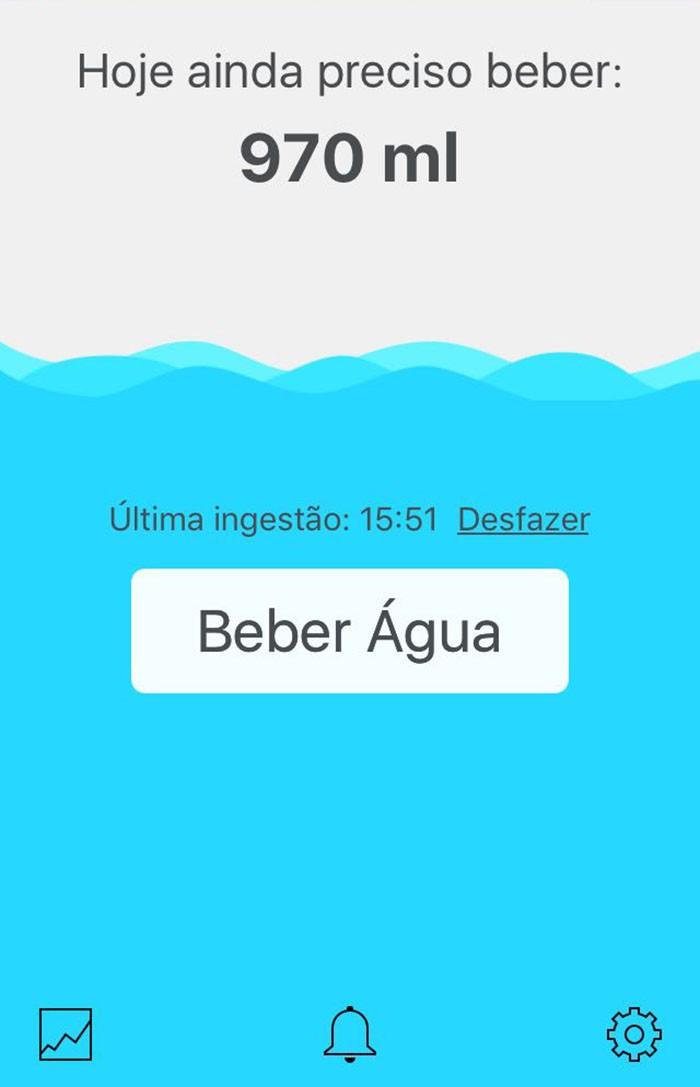 Interface do Beber Água (Foto: Reprodução)