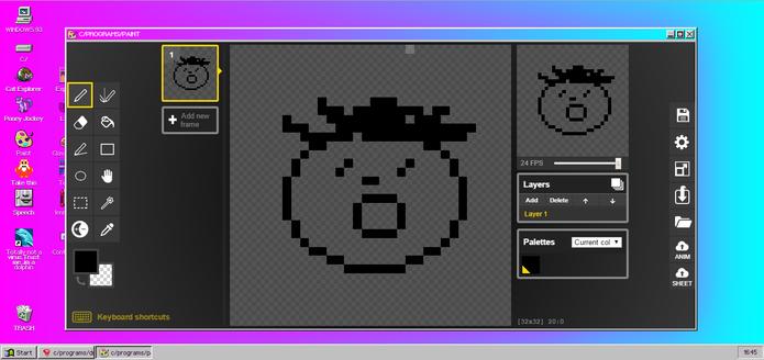 Paint é o aplicativo de desenho do Windows 93 com design 8 bits (Foto: Reprodução/Elson de Souza)