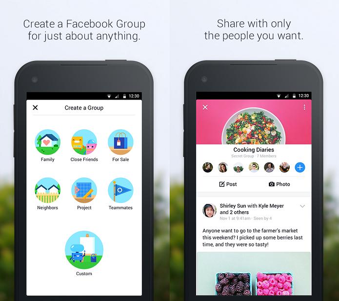Novo app do Facebook é voltado para interação em grupo (Foto: Divulgação)