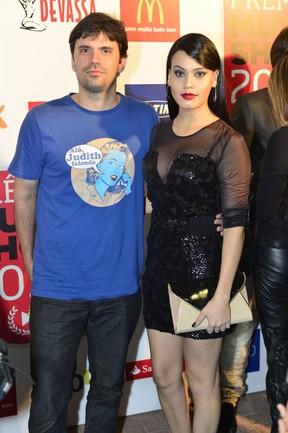 Leticia Lima com o ex-marido Ian SBF, fundador do Porta dos Fundos (Foto: Agnews)
