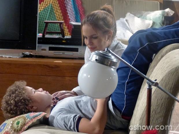 Anita descobre que Sofia vai morar com Ben nos EUA (Foto: Malhação / TV Globo)