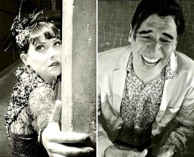 Em preto e branco: Fabíula Nascimento e Paulo Betti  (Foto: Arquivo Pessoal)