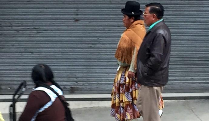 """Uma tradicional """"cholita"""" em La Paz (Foto: Diego Guichard)"""