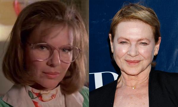 Dianne Wiest em 1990 e atualmente (Foto: Divulgao)