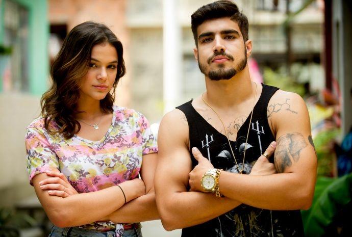 Grego, interpretado por Caio Castro, tem várias tatuagens (Foto: Globo/João Miguel Júnior)