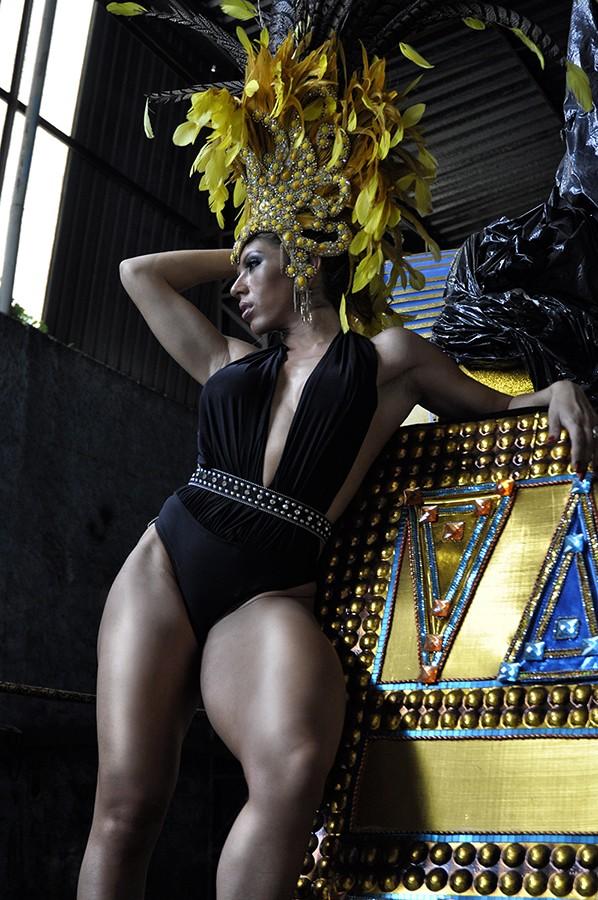 Andrea Andrade rainha da Império de Casa Verde (Foto: Augusto Wyss/Divulgação)
