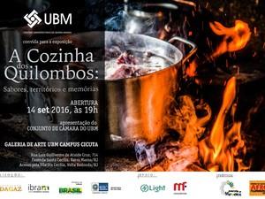 """Exposição """"A Cozinha dos Quilombos"""" (Foto: Divulgação/UBM)"""