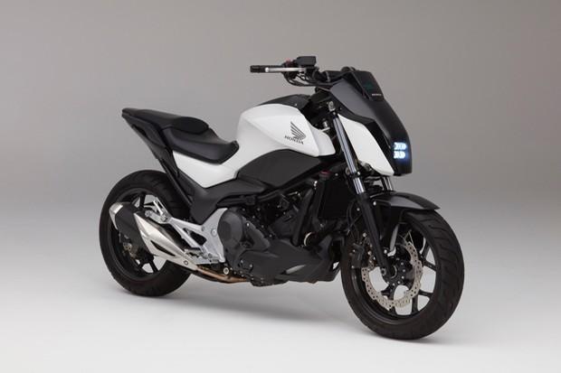 Honda apresenta moto que não cai em baixa velocidade (Foto: Divulgação)