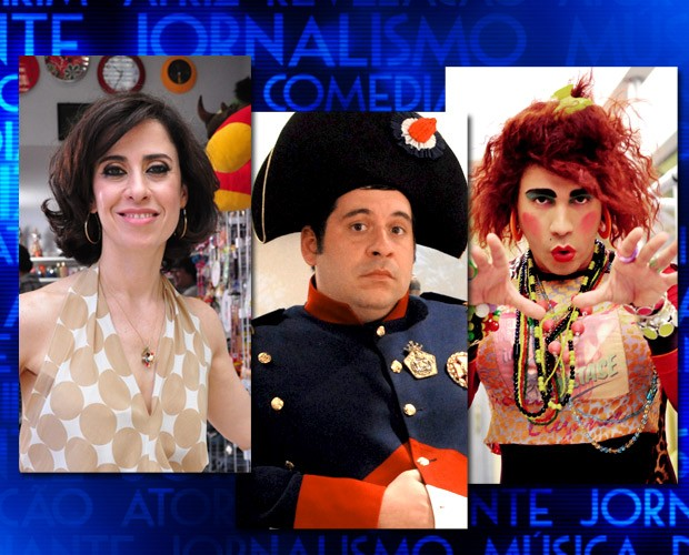 Fernanda Torres, Leandro Hassum e Rodrigo Sant´anna (Foto: Domingão do Faustão / TV Globo)