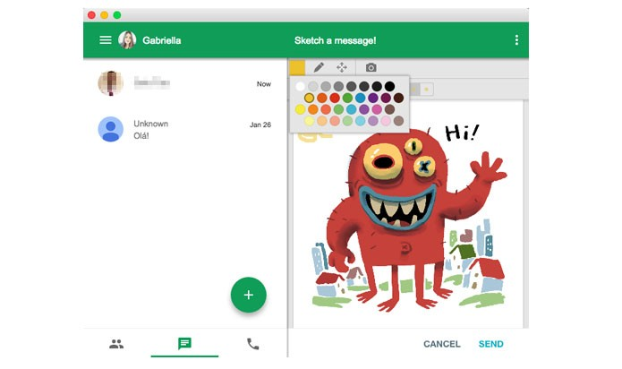 Usuários podem desenhar em cima das figurinhas depois de enviá-las (Reprodução/ Gabriella Fiszman)
