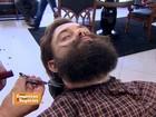 De olho em moda da barba longa, empresários investem em barbearia