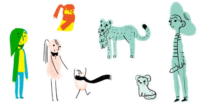 Doodler testou desenhos em aquarela para celebrar o Dia da Mães no Google (Foto: Reprodução/Google)