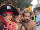 Leandra Leal curte mais um dia de carnaval de rua no Rio de Janeiro