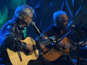 Caetano e Gil (Foto: Reprodução - TV Globo)