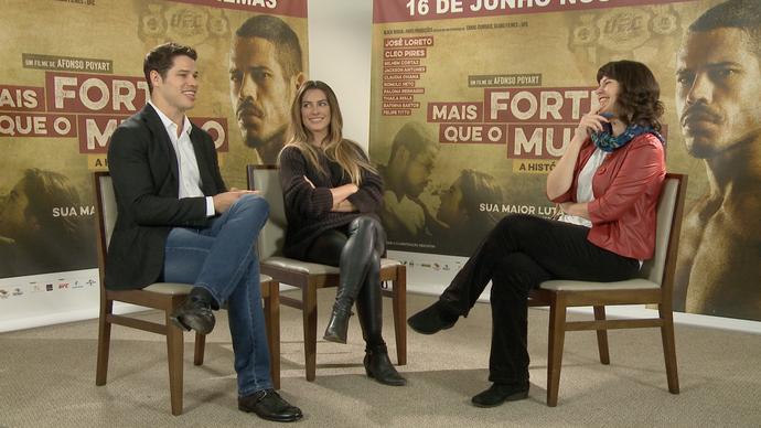 Helena Santos fala com José Loreto e Cléo Pires  (Foto: Divulgação / TV Gazeta ES)