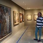 Artista plástico francês visita exposição  (Ares Soares/Unifor)