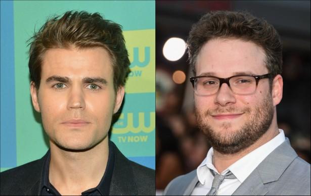 Os atores Paul Wesley (de 'The Vampire Diaries') e Seth Rogen têm 32 anos de idade. (Foto: Getty Images)