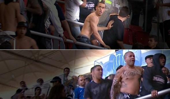 Torcedores do Corinthians presos em Oruro se envolvem em confusão em Brasília (Foto: Arte SporTV.com)