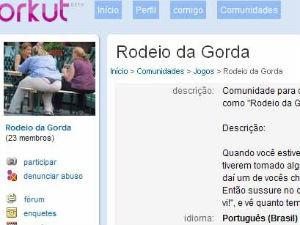 Um dos estudantes criou comunidade explicando como era o 'rodeio das gordas' (Foto: Reprodução/Orkut)