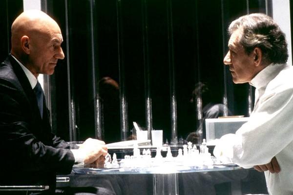 Stewart e McKellen como Xavier e Magneto em 'X-Men' (2000) (Foto: Divulgação)
