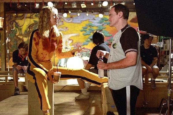 Quentin Tarantino e Uma Thurman (Foto: Reprodução)