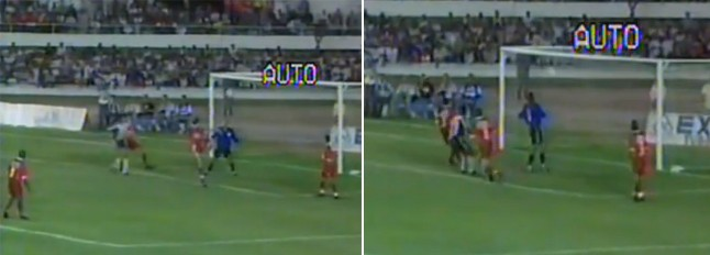 Reprodução do gol contra de 1999 - Marcelo Fernandes