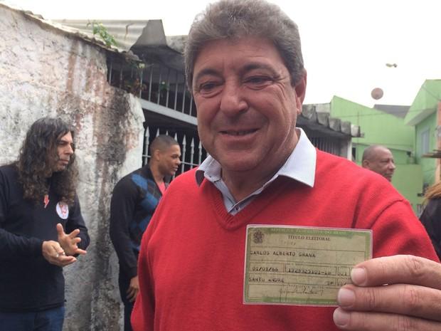 Carlos Grana, atual prefeito de Santo André, foi derrotado por Paulo Serra, do PSDB, que irá governar a cidade pela primeira vez (Foto: Glauco Araújo/G1)