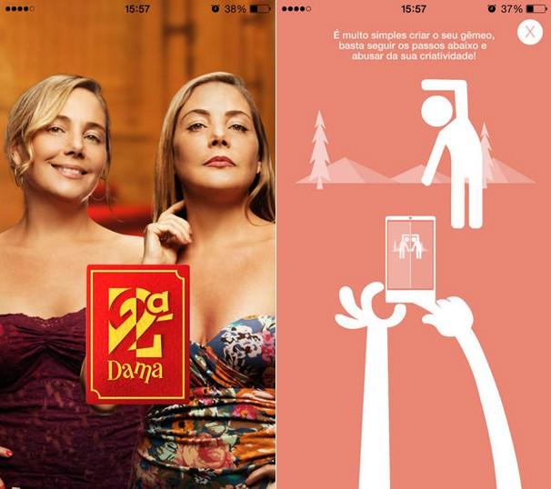 Clique e baixe grátis o aplicativo Segunda Dama - Faça Seu Gêmeo, e entre no clima da nova série da Globo (Foto: Globo)