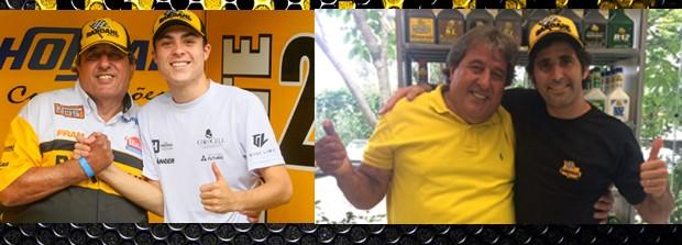 Amadeu Rodrigues, chefe de equipe com seus dois pilotos para temporada de 2017 da categoria Stock Car, Guga Lima e Sergio Jimenez. (Foto: Vanderley Soares/Divulgação) (Foto: Vanderley Soares/Divulgação)