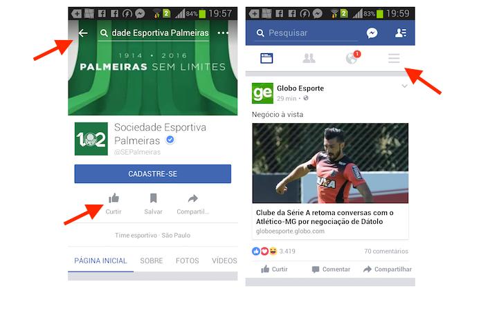 Adicionando um clube de futebol à ferramenta esportes do Facebook para Android (Foto: Reprodução/Marvin Costa)