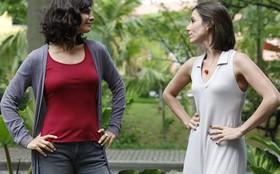 Helena Ranaldi e Tania Khallil se divertem com a rivalidade entre Chiara e Letícia