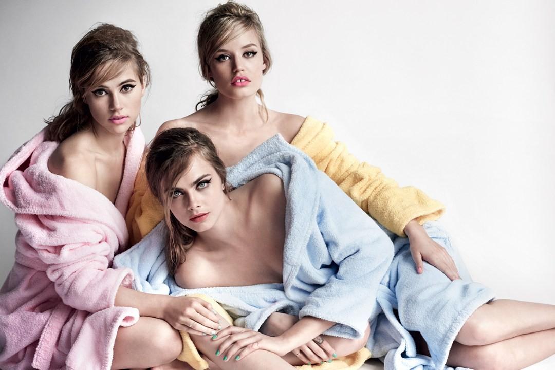 O trio na Vogue UK de abril (Foto: Reprodução)