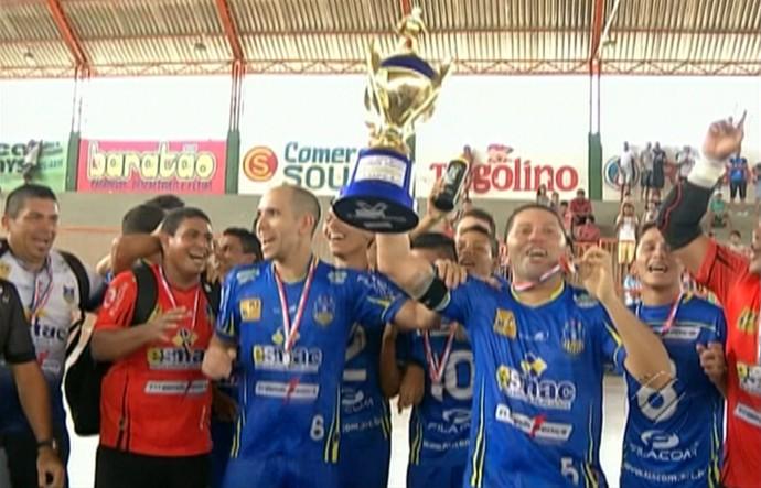 Madre Celeste - Campeão Paraense Futsal Adulto Masculino (Foto   Reprodução TV Liberal) Madre Celeste comemora o título do Campeonato ... f07abb61e8fb6
