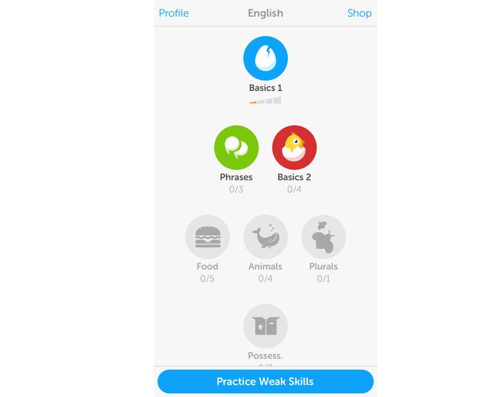 Duolingo está mais fácil de ler textos e acessar conteúdo de apps (Foto: Divulgação)