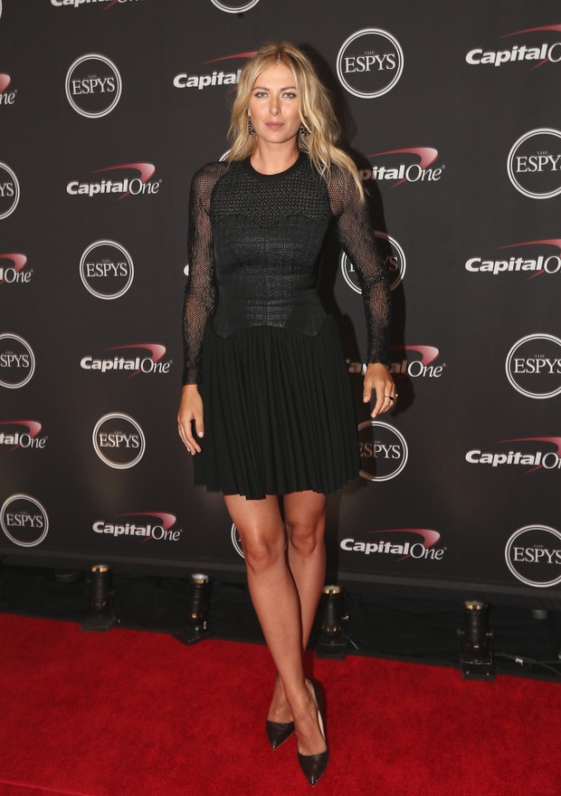 Maria Sharapova em premiação em Los Angeles, nos Estados Unidos (Foto: Christopher Polk/ Getty Images/ AFP)
