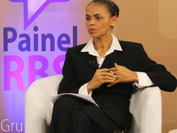 Marina Silva, candidata à presidência pelo PSB,  participou do Painel RBS (Foto: Janaína Marques/ G1)