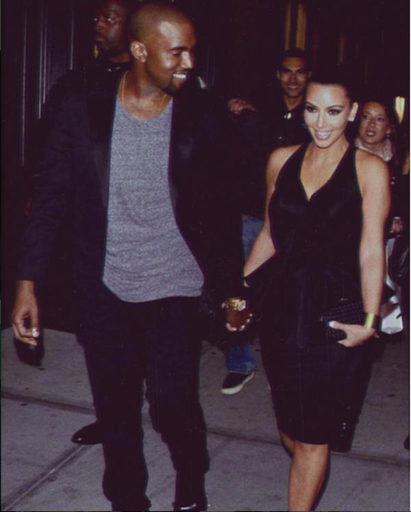Uma foto compartilhada por Kim Kardashian celebrando os três anos de seu casamento com Kanye West (Foto: Instagram)