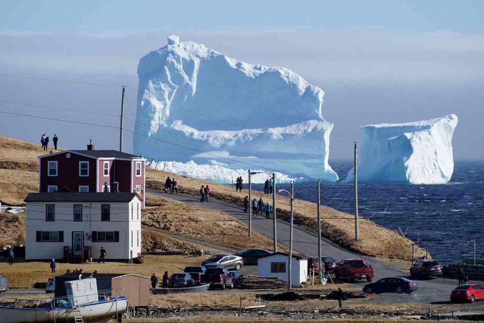 Cidade do Canadá fica na rota de icebergs que vêm da Antártida  (Foto: Jody Martin/Reuters)