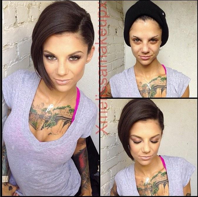 Atriz sem maquiagem 2
