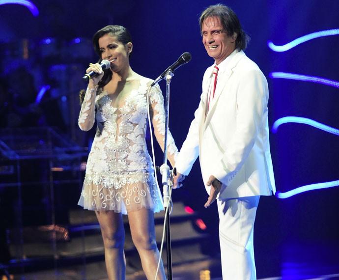 Anitta dividiu o palco com o Rei (Foto: Estevam Avellar/Globo)
