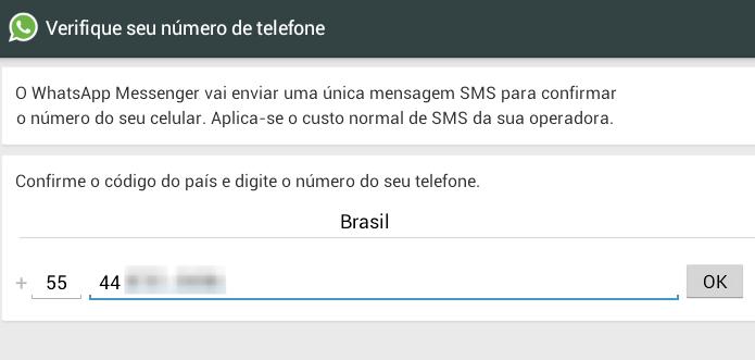 Configurando o WhatsApp (Foto: Reprodução/Helito Bijora)