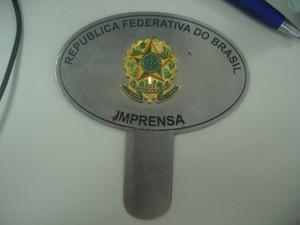 Proprietário disse que usava símbolos para evitar abordagens (Foto: Divulgação/ Receita Federal)