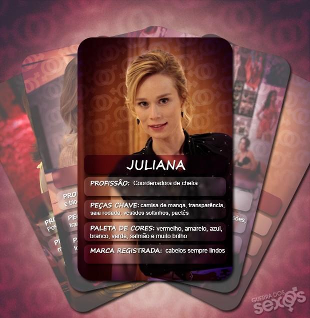 Juliana é romântica e moderna (Foto: Guerra dos Sexos/TV Globo)
